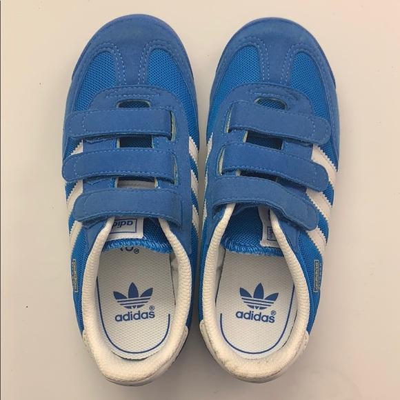 Adidas dragon blue Velcro kids sneakers